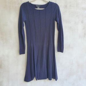 Etcetera Long Sleeve Navy Wool Blend Sweater Dress